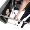 telescoping legs of the luxe light aluminum massage table
