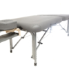 side front view of luxe light aluminum massage table