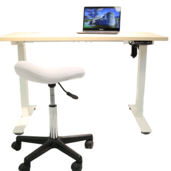 stand up desk with programmable motor and optional stool