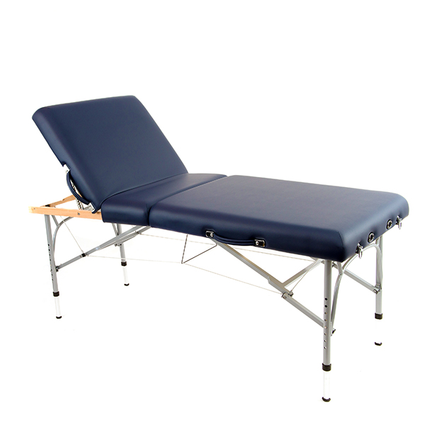 portable adjustable massage table with back lift feature