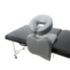 Head and chest support makes this convertible massage chair so portable.
