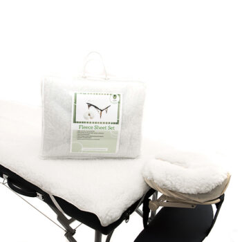 Fleece Massage Table and Face Cushion Cover Set